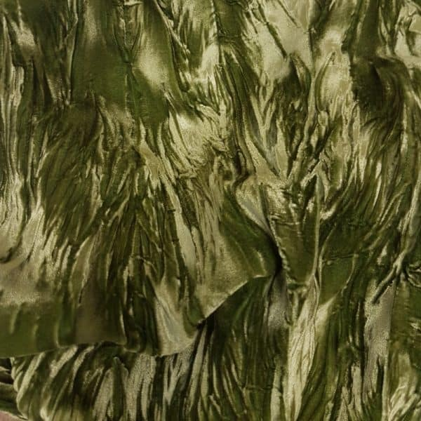 Denholme Velvets Acetate Viscose Plain Dyed Crushed Velvet 89759975H 9410P Avocado