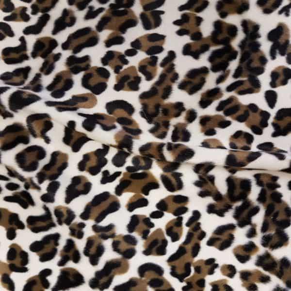 Denholme Velvets Faux Fur Cream Leopard 20163 9035P CREAM