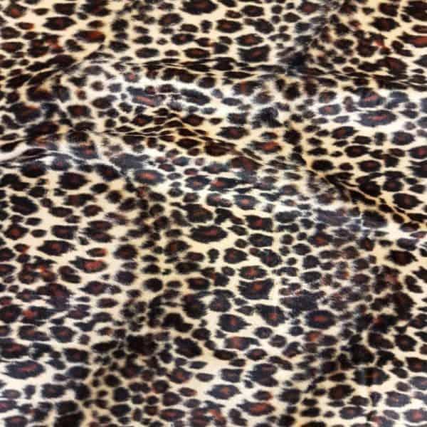 Denholme Velvets Faux Fur Sand Leopard 20191 9052P SAND