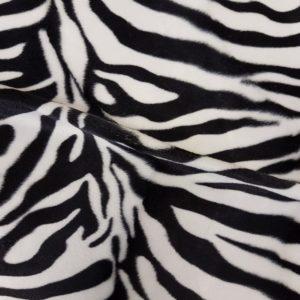 Denholme Velvets Faux Fur Zebra 20154 9280P BLACK WHITE