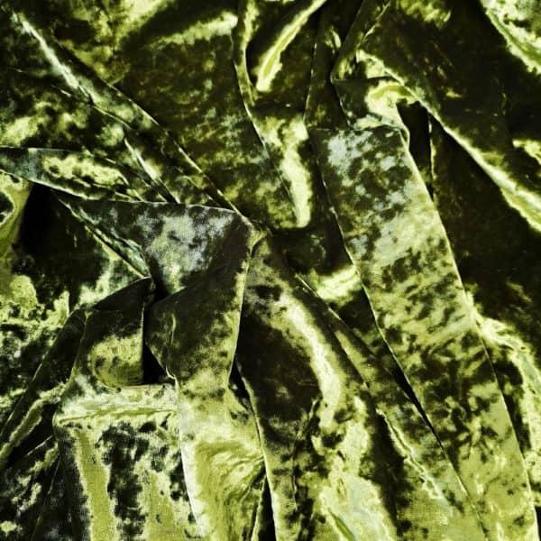 Denholme Velvets Hammered Stretch Velour 20009 9027P Avocado Black