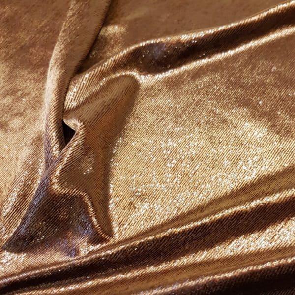 Denholme Velvets Polyester Metallic Shine Velvet 20241 9355P Bronze
