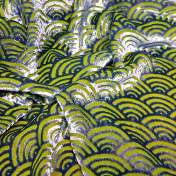 Denholme Velvets Seashell Devore Viscose Silk Velvet 20250 9441P ALASKAN SKY