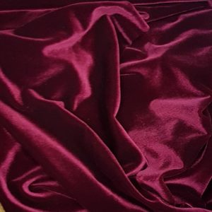 Denholme Velvets Stretch Velour 20008 9005P Burgundy